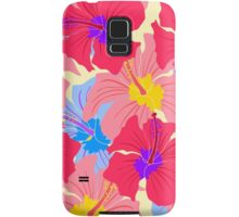 pattern with hibiscus  Samsung Galaxy Case/Skin