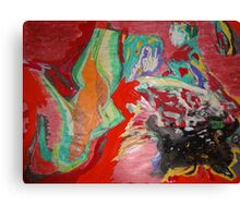 Woman in red dancing Canvas Print