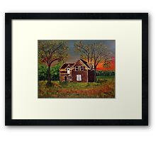 Old Farmhouse Framed Print