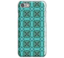 Turquoise damask pattern iPhone Case/Skin