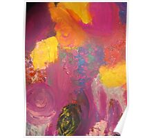 Flowers in violet Poster