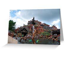 Splash Mountain Greeting Card