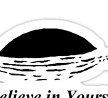 Believe in Yourself - The Loch Ness Monster (Black) Sticker