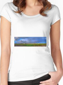 CLOUDS PANORAMA Women's Fitted Scoop T-Shirt