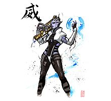 Aria from Mass Effect sumi and watercolor style Photographic Print