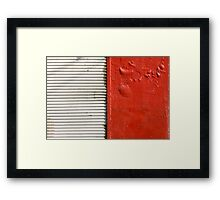 red and white (closed store) Framed Print