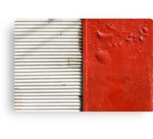 red and white (closed store) Canvas Print