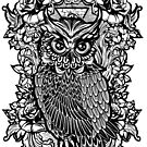 Black Lucky Owl by candelakis