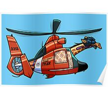 US Coast Guard Giraffe - Tyler Poster