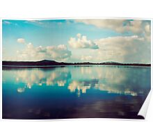 Cloudy Reflections Poster