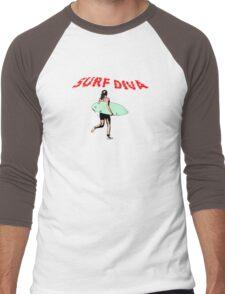 Surf Diva Men's Baseball ¾ T-Shirt