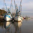 Shrimp Boats by Jane Best