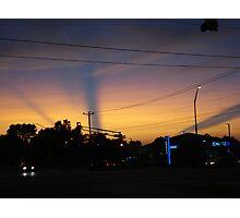 Streaks Across Sky During Sunset Photographic Print