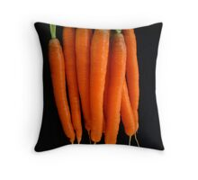 Golden Carrot Crop Throw Pillow