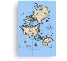 Mercator Map Canvas Print