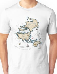 Mercator Map Unisex T-Shirt