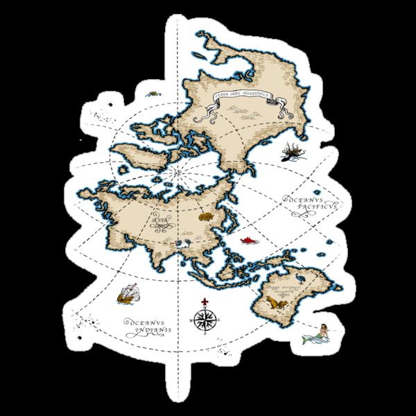 Mercator Map by Dylan DeLosAngeles