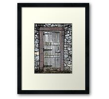 What's Behind the Door Framed Print