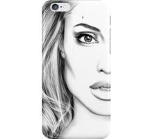 Angelina Jolie minimalist art portrait - digital painting iPhone Case/Skin