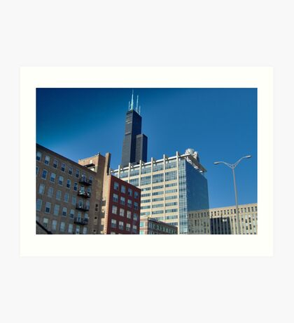 Surreal Chicago Sears Tower Art Print