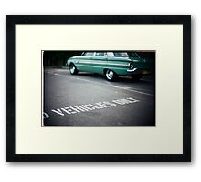 Vehicles Only Framed Print