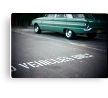 Vehicles Only Canvas Print