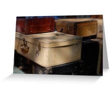 Flea Market Luggage Greeting Card