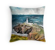 South Stack Lighthouse New York Throw Pillow