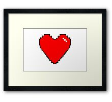 Simple Red Pixel Heart Framed Print
