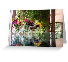 Flowers Reflection Greeting Card