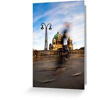 Radfahrer / Berliner Dom Greeting Card