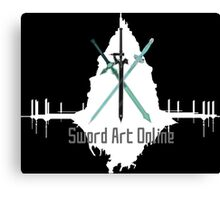Sword Art Online Swords with Aincrad (Black Background) Canvas Print