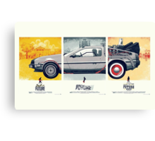 Back to the Future 1, 2, and 3 Canvas Print
