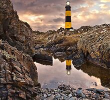 Lighthouse At St John's Point by Derek Smyth