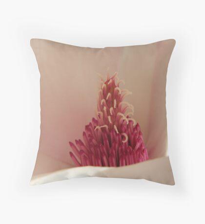 Pink explosion on white Throw Pillow