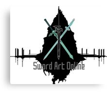 Sword Art Online Swords with Aincrad (White Background) Canvas Print