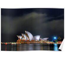 Opera House at Night II Poster