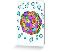 Blob Explosion  Greeting Card