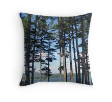 Trees By The Lake 2 Throw Pillow