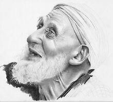 Old man from from North Africa by David J. Vanderpool