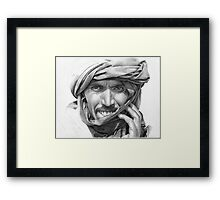 Abdel - Man in a Turban Framed Print