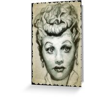 Lucille Ball drawing Greeting Card