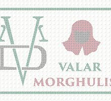 Valar Morghulis Patchwork cross stitch   by kennypepermans