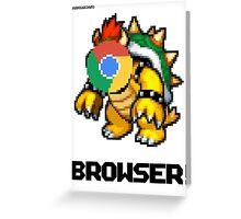 Browser! Mario Cars 2 64 shirt. Greeting Card
