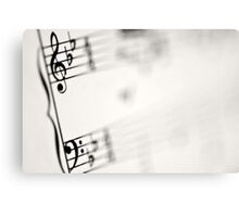Music Notes Canvas Print