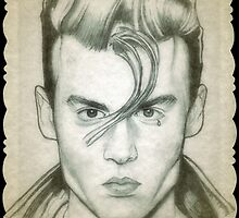 Johnny Depp Cry-baby drawing by RobCrandall