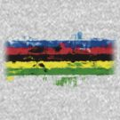 Rainbow Jersey Abstract by Ra12
