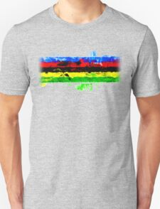Rainbow Jersey Abstract T-Shirt