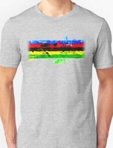 Rainbow Jersey Abstract T-Shirt