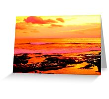La Jolla Sunset Greeting Card